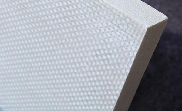 Edge detail on fiberglass saferoom panel