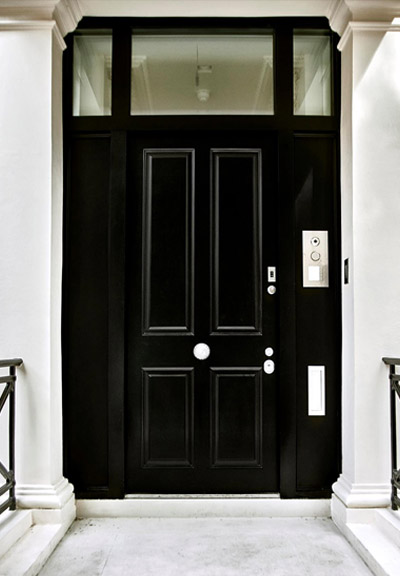 high security entrance door with transom