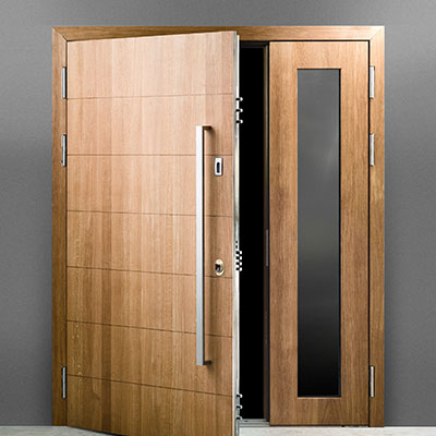 Milled wood panic room door